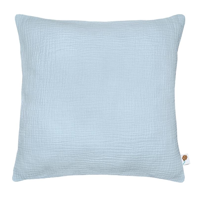 Pillowcase Muslin Pastel Blue Handmade