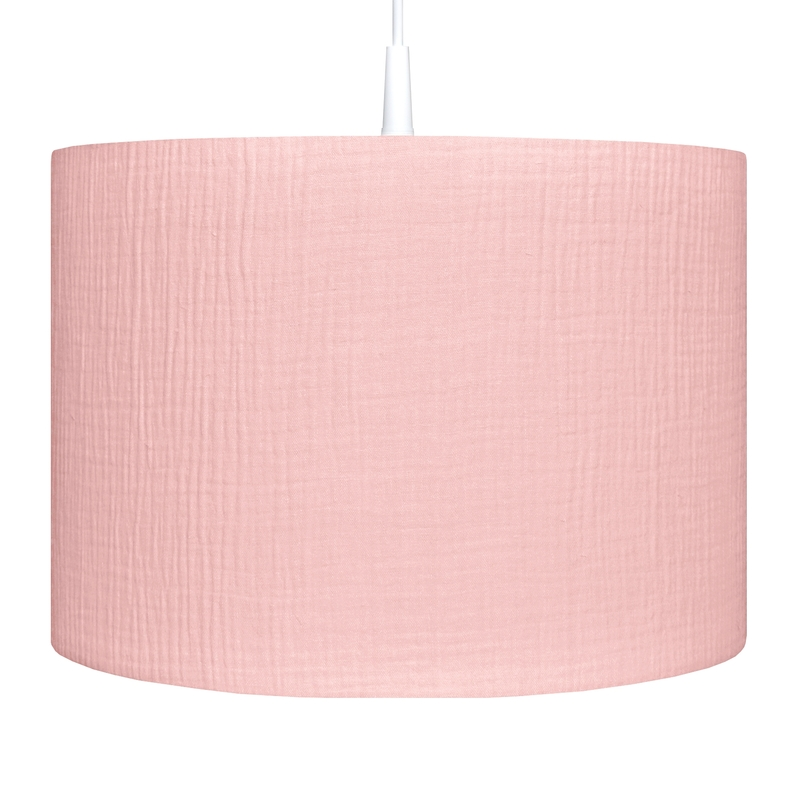 Hanging Lamp Muslin Light Pink Handmade