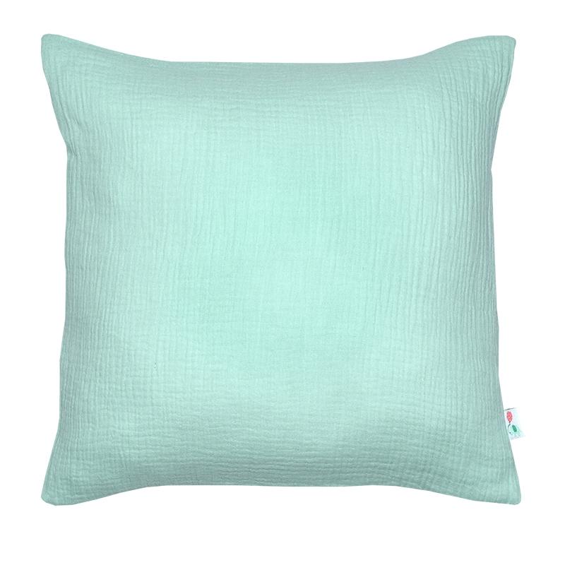Pillowcase Muslin Mint Handmade